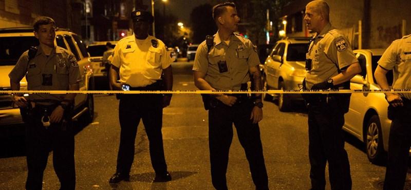 Több rendőrt meglőttek egy philadelphiai lövöldözésben