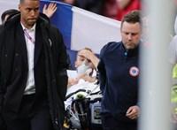 Összeesett a pályán Christian Eriksen, újraélesztették, állapota stabil