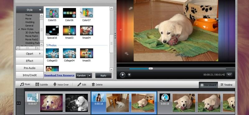 Teljes verziós slideshow-készítő, ingyen! Készítsen karácsonyi videót fotóiból!