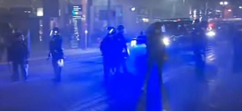Nagyon eldurvult a portlandi Trump-ellenes tüntetés - videó