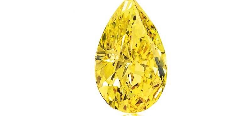 Fotó: 560 millió forintért kelt el a gyönyörű sárga gyémánt