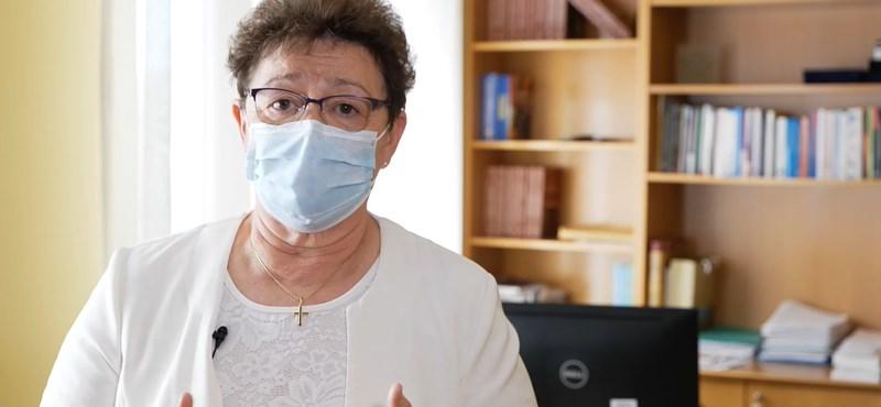 Müller Cecília maszkban kérte a fiatalokat, vigyázzanak