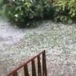 Nem, ez nem hó, csak ilyen sok jég esett Zala megyében – videó