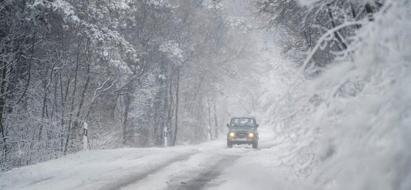 Megmaradhat a hó a hétfői havazás után - térképen mutatjuk, hol