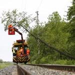 Szélvihar: újra járnak a vonatok Nagykőrös és Kecskemét között, de késhetnek