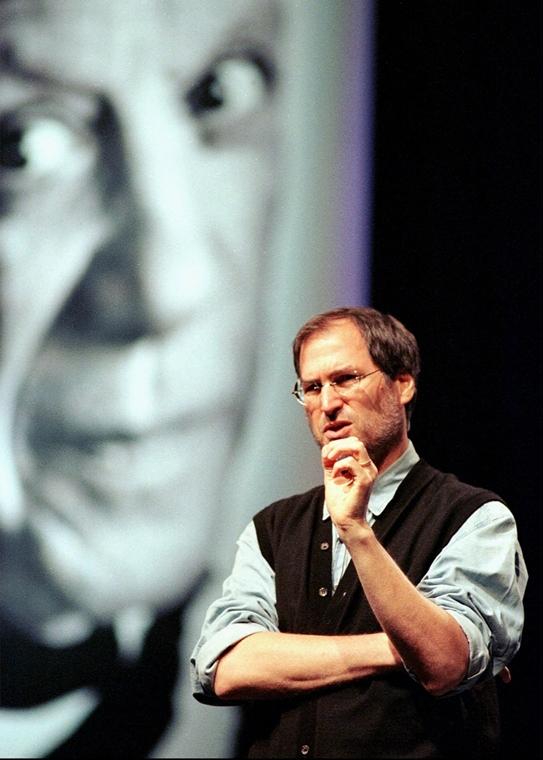 1997. október 2. - Pablo Picasso az Apple legújabb reklámkampányában - Steve Jobs évforduló -nagyítás