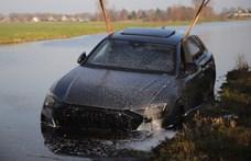Vízbe merülve végezte az alig pár hetes és 600 lóerős Audi RS Q8