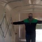 Fertőtlenítő kapuval próbálják megállítani a koronavírust Baranyában