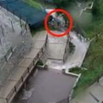 Csodával határos módon élte túl a brutális sárlavinát egy olasz ember – videó