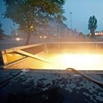 Tűz volt a Nagyvárad téri aluljáróban – fotó