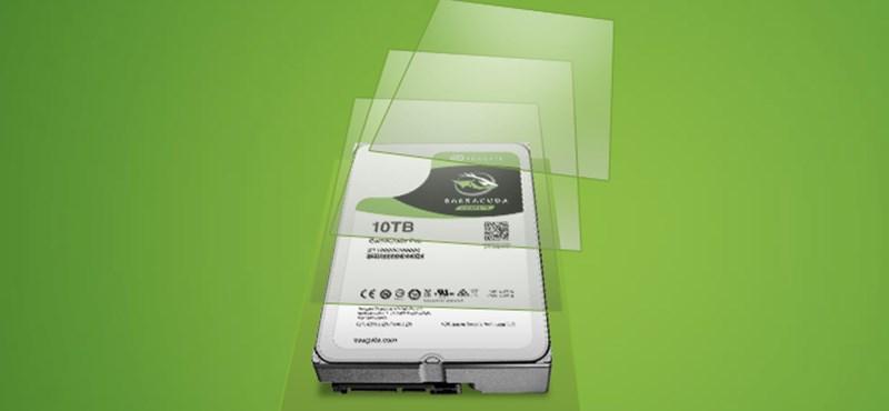 Itt a merevlemez, amin 10 000 GB-nyi adatot tárolhat