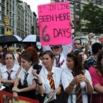 Fotó: a legkeményebb rajongó hat napig várt az utcán a Potter-premierre
