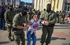 Női tüntetés Lukasenka ellen