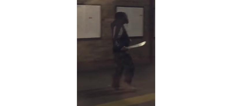Bozótvágó késsel hadonászó férfi okozott pánikot egy londoni metróállomáson – videó