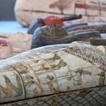 100 érintetlen szarkofágot találtak a szakkarai nekropoliszban