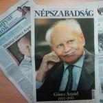 Címlapjukon emlékeznek a napilapok Göncz Árpádról
