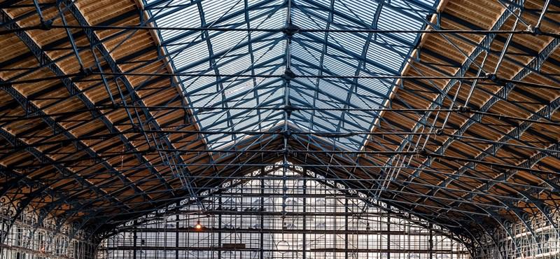 Fotókon mutatjuk a Nyugati pályaudvar elkészült tetőszerkezetét