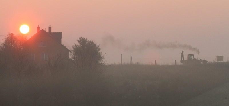 Négy városban egészségtelen a levegő