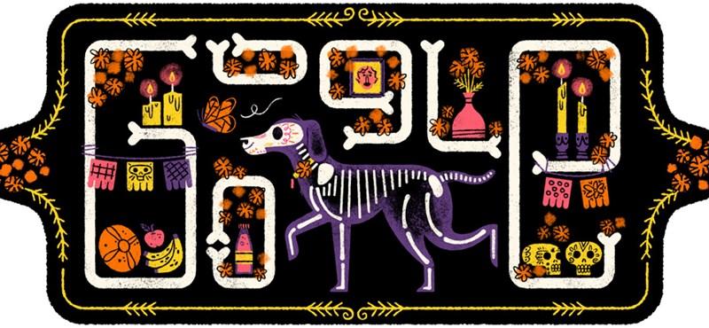 Miért pont ez a kutya van a sírban a halottak napja miatt a kitett képen a Google kereső főoldalán?