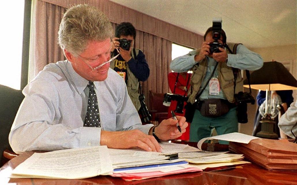 1992.10.19. - Clinton az utolsó elnöki vitára készülve - CLNTNAGY