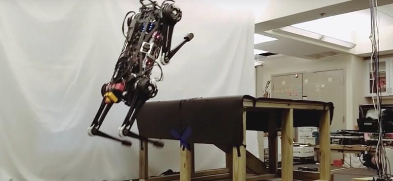 Videó: Fantasztikus és egyben ijesztő, milyen ugrásokra képes ez a robot