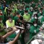 Videó: Szemét-flashmobot tartottak a hulladékszállítók