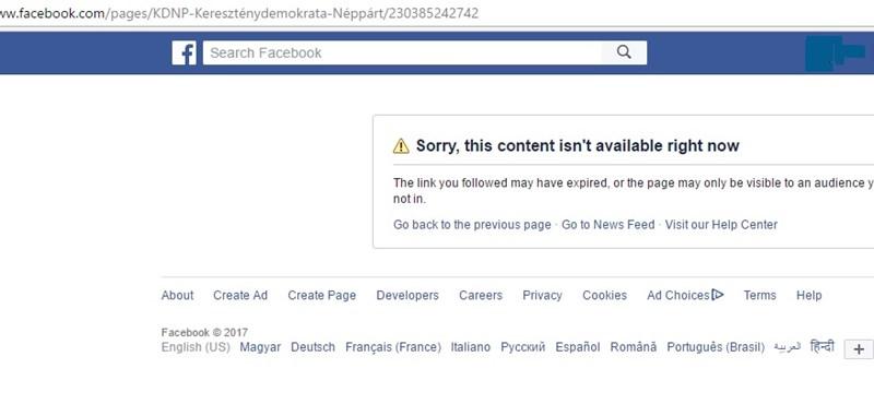 Kiderült, miért tiltotta le a Facebook a KDNP-t
