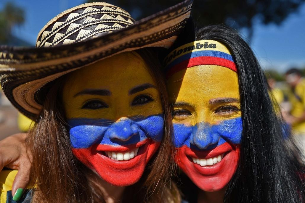yyyyy - kolumbiai szurkoló - foci-vb 2014,vb-2014,vb14meccs,vb14tömeg,vb14szurkoló