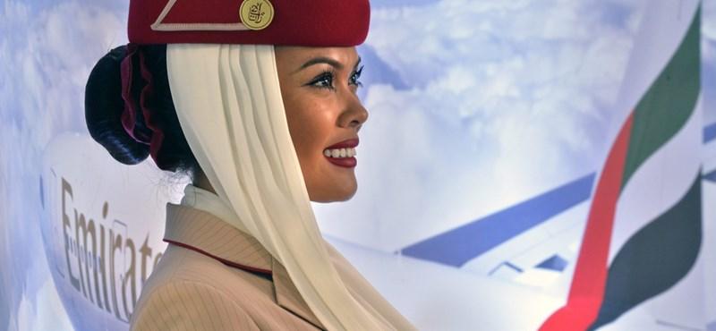 Így landolt Budapesten az Emirates első gépe