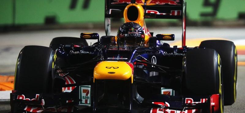 Vettel győzött, Hamilton kiesett Szingapúrban