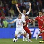 Micsoda meccs volt! Az utolsó percben lőtt góllal győzte le Svájc Szerbiát