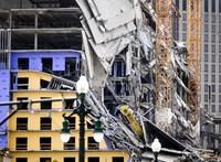 Összedőlt egy 18 emeletes szálloda New Orelansban – videó