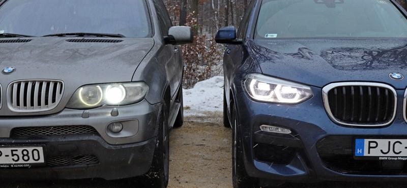 Felnőtt a feladathoz: egymás ellen küldtük a régi BMW X5-öt és az új X3-at