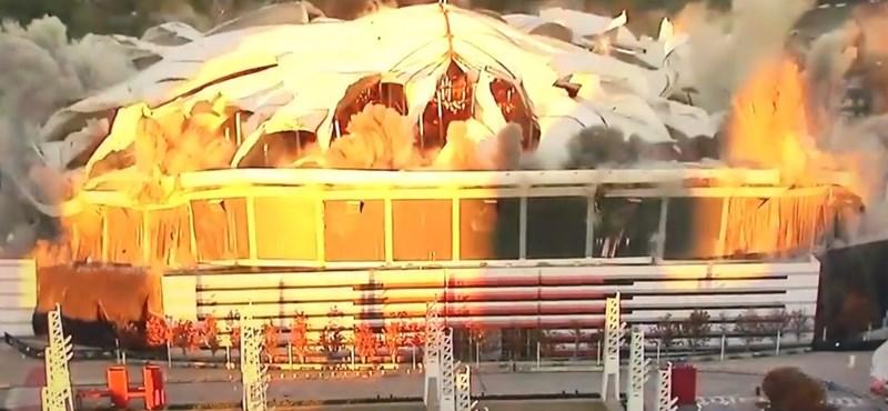 2 tonna robbanószerrel búcsúztatták az atlantai stadiont – videó