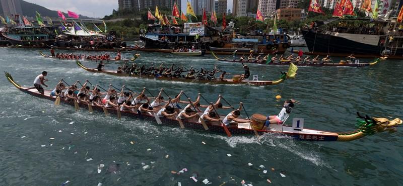 Turistarekord Sanghajban a sárkányhajó-ünnepen