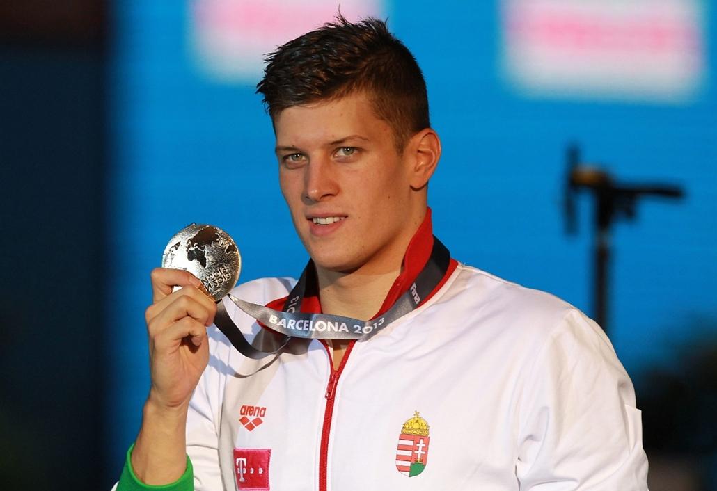 epa. - 13.08.01. - Barcelona, 2013. augusztus 1. - Gyurta Dániel a férfi 200 méteres mellúszás előfutamában a barcelonai vizes világbajnokságon 2013. augusztus 1-jén.