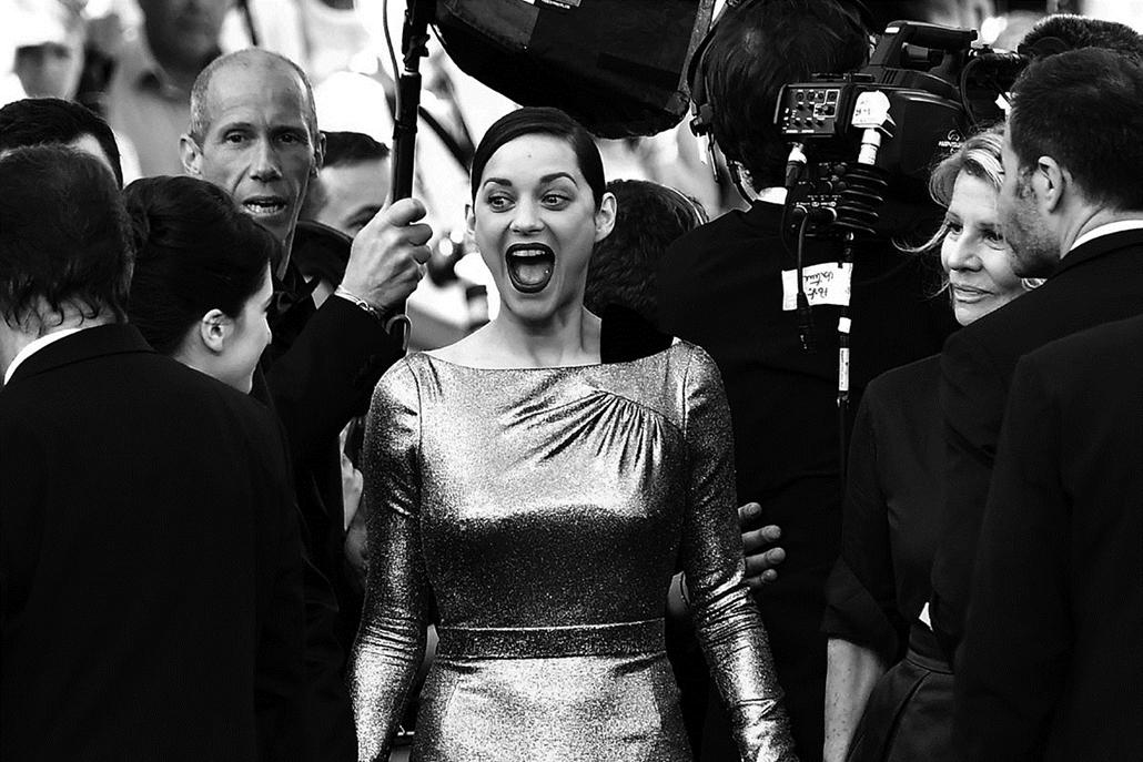 afp.16.05.21. - Marion Cotillard - Cannes-i Filmfesztivál feketén-fehéren, Nagyítás