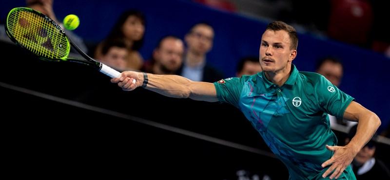 Szófiai tenisztorna: Fucsovics kikapott a döntőben