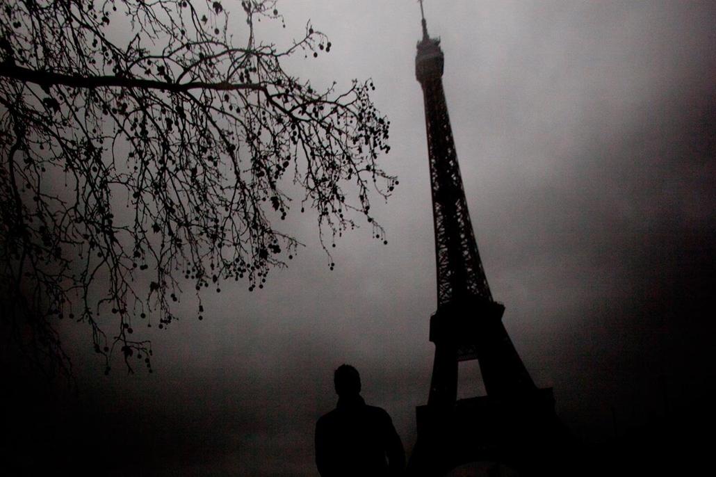 'Honorable mention', 'helyek' kategória - Franciaország, Párizs: tél az Eiffel toronynál - NatGeonagy