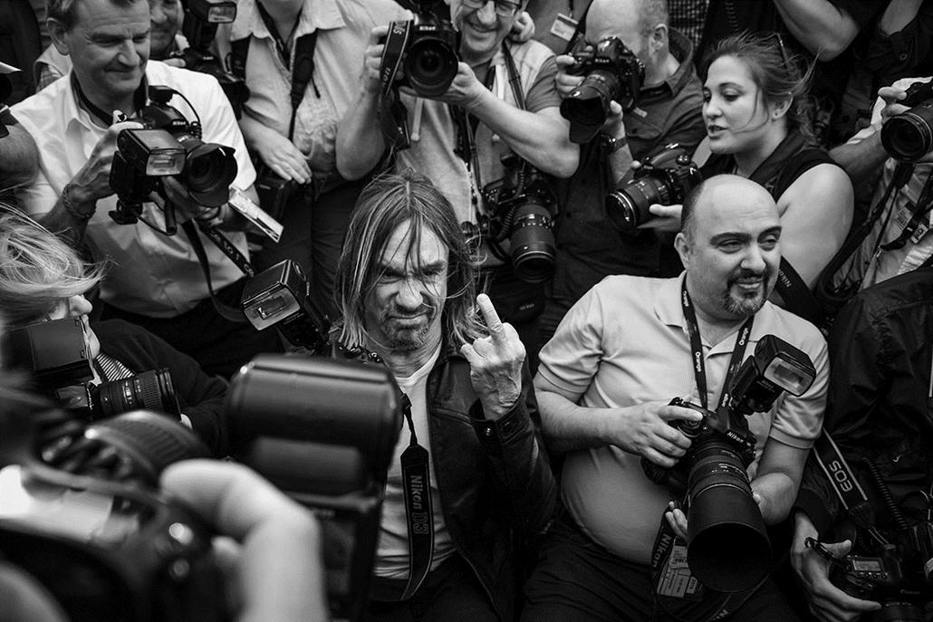 afp.16.05.21. -Iggy Pop - Cannes-i Filmfesztivál feketén-fehéren, Nagyítás