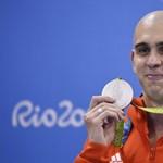 Cseh László ezüstérmet szerzett 100 méter pillangón