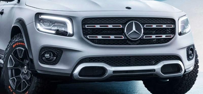 Itt egy teljesen új Mercedes divatterepjáró, a 7 üléses GLB