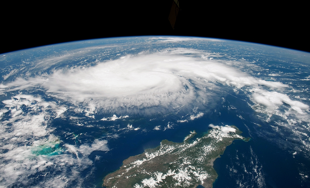 20190902005 afp.19.08.30. A Nasa által készített felvétel a Dorian névre keresztelt trópusi viharról az Atlanti-óceán felett 2019. augusztus 29-én