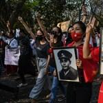 Több tízezezren tüntetnek Mianmarban