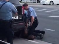 Tüntetések kezdődtek Minneapolisban, miután egy fekete férfi belehalt a rendőri intézkedésbe