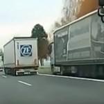 Mégis miért? Leállósávban zúzott végig a kamionos az M1-esen – videó