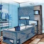 Legyen trendi a fürdője! Használjon mozaikcsempét!