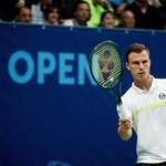 Két magyar teniszezőből kettő vesztett - az egyik öt meccslabdáról