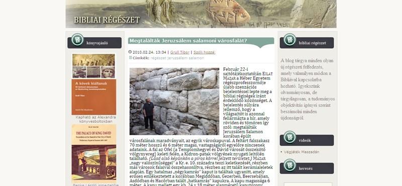 Megtalálták Jeruzsálem salamoni városfalát
