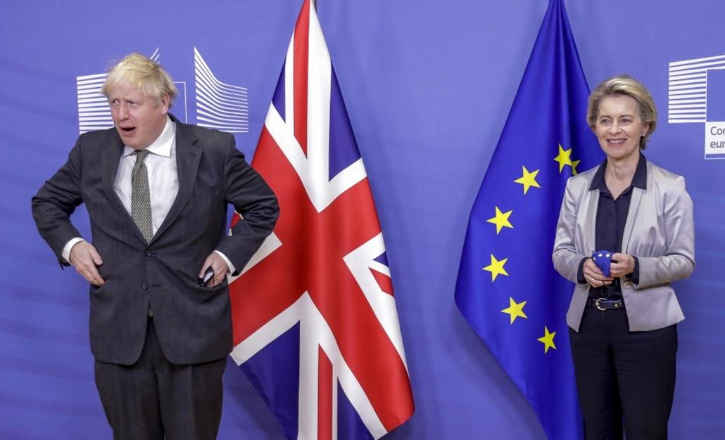 20.12.24. AFP Boris Johnson Ursula von der Leyen Brexit